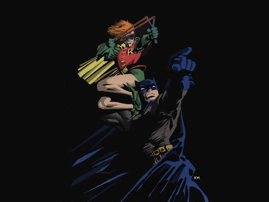 Batman and Robin in one dark future