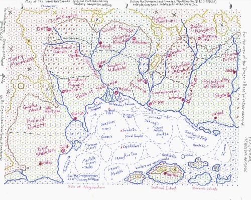 """The """"Vanished Lands"""" heroic fantasy campaign setting"""