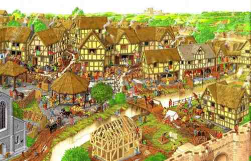 A village in the Middle Ages