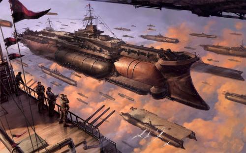Steampunk space vessel