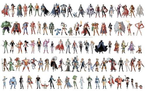 100 tiny characters