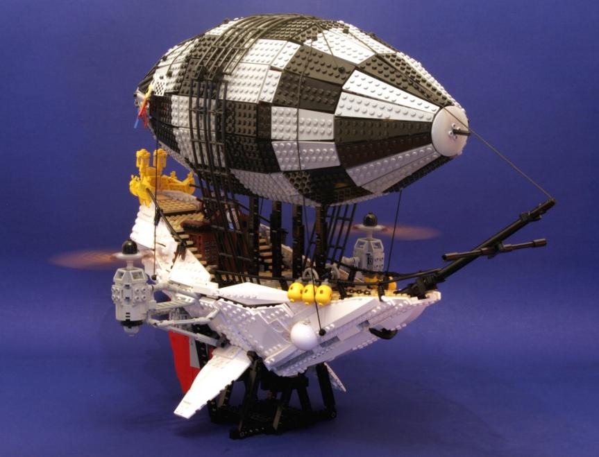 Steampunk Lego airship
