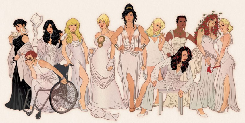 Adam Hughes takes on the women of DC