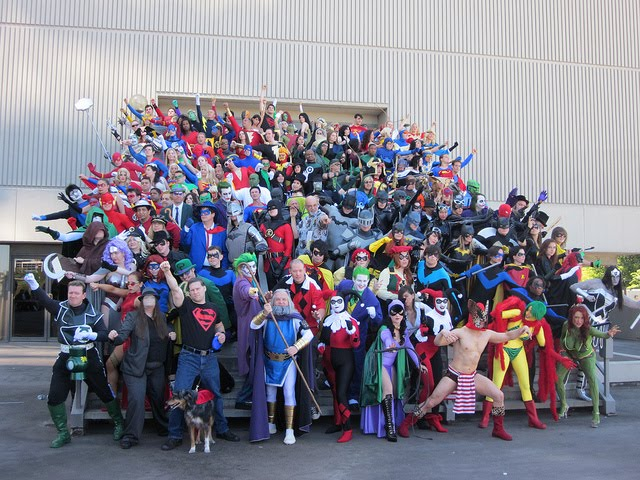 Fans in costumes at San Diego Comic-Con 2011