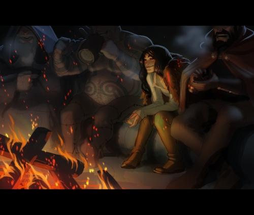 Campfire by Matt Rhodes