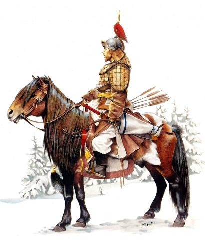 Mongol-style horseman