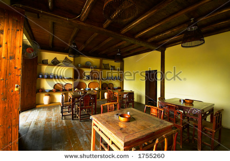 Stock image of a Chinese tea house