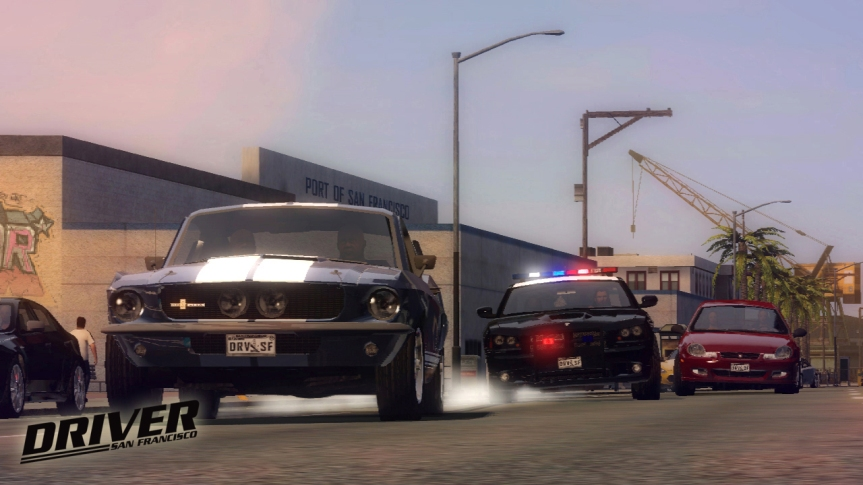 Classic car chase