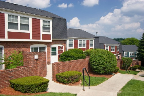 Townhouse apartments in Waltham, Mass.