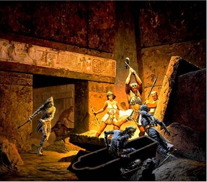 Battle in the tombs