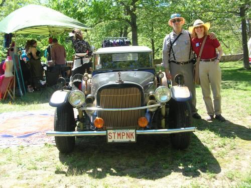 Customized vintage vehicle