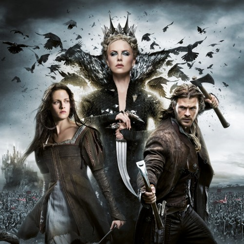 Snow White, wicked queen, and the huntsman
