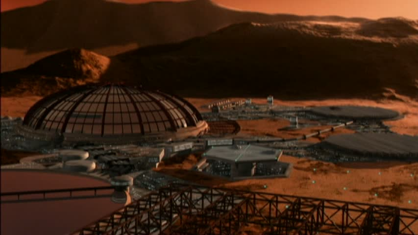 Domed habitats on Mars