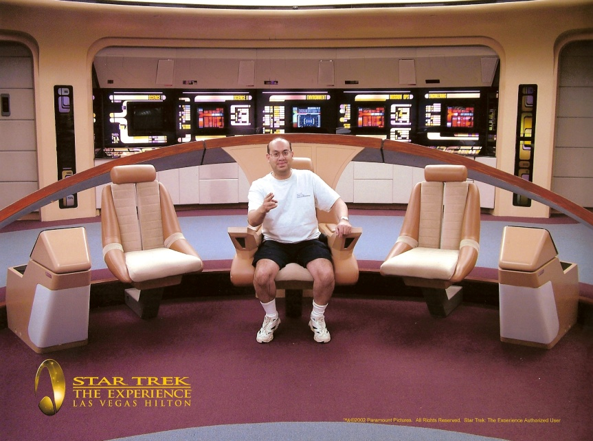 Gene at the Star Trek Experience