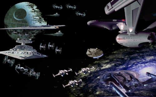Space opera franchises meet