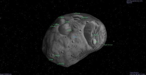 Phobos, moon of Mars