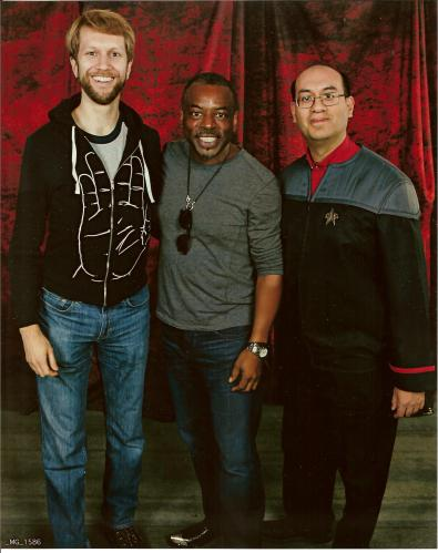 With Geordi LaForge