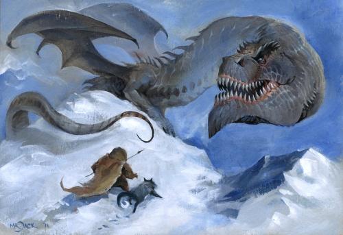 Dragon-dinosaur crossbreed